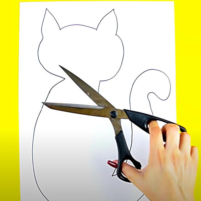 How To Make A Pattern - Stuffed Kitty Idea - Bedroom Decor