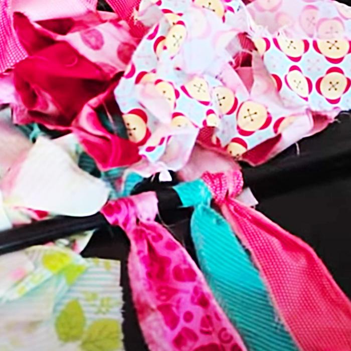 How To Make Rag Curtains - DIY Rag Curtain - No Sew Curtains