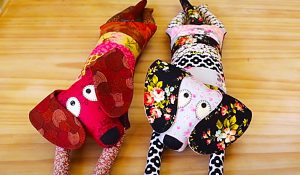 DIY Patchwork Dog With A Free Pattern