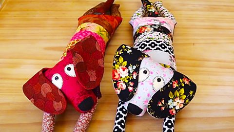 DIY Patchwork Dog With A Free Pattern | DIY Joy Projects and Crafts Ideas