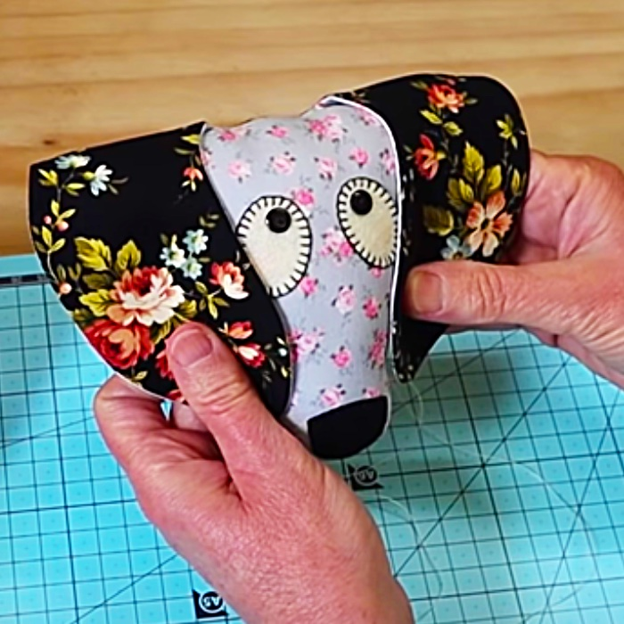 Easy Quilted Dog - Easy Quilted Toy - Homemade Patchwork Dog
