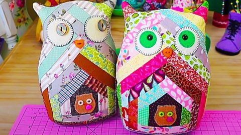 How To Make A Patchwork Owl With Free Pattern   DIY Joy Projects and Crafts Ideas