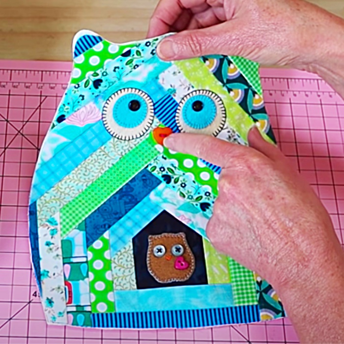 How To Make A Quilted Owl - Easy Quilted Animal Ideas - Free Quilting Pattern