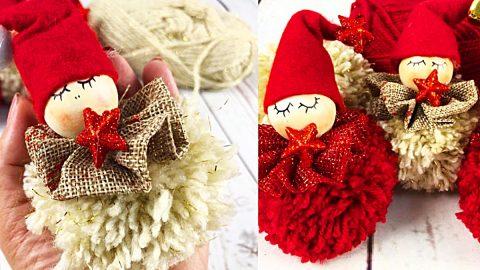 How To Make A Pom-Pom Angel   DIY Joy Projects and Crafts Ideas