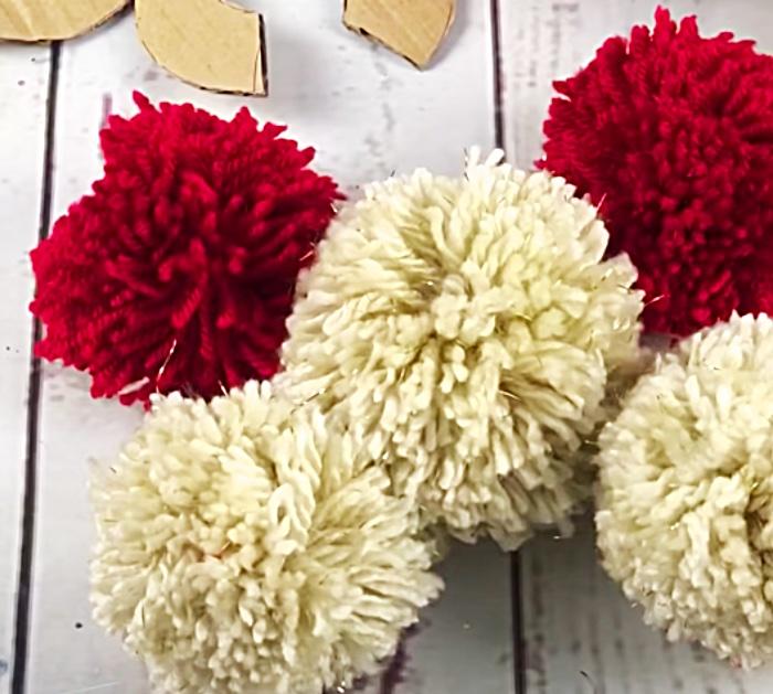 DIY Christmas Decor - How To Make A Pom Pom Angel - DIY Tree Ornaments