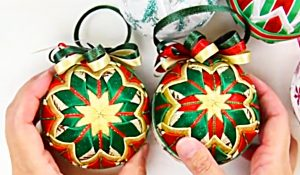 How To Make Ribbon Christmas Ornaments