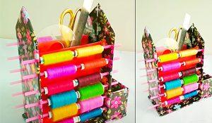 DIY Thread Organizer From Cardboard