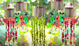 DIY Beaded Solar Lanterns