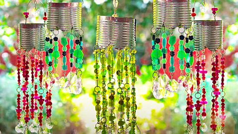 DIY Beaded Solar Lanterns | DIY Joy Projects and Crafts Ideas