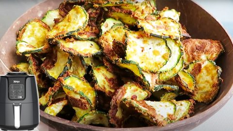 Air Fryer Cheesy Zucchini Chip Recipe   DIY Joy Projects and Crafts Ideas