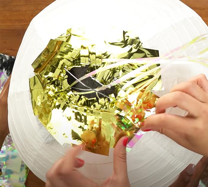 DIY Paper Lanterns - Handmade Disco Balls - Easy Confetti Decor