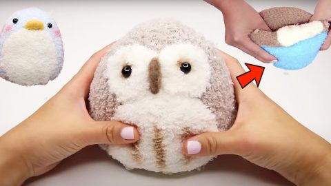DIY Reversible Owl And Penguin Sock Plush | DIY Joy Projects and Crafts Ideas