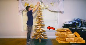 How To Build A Christmas Tree From Scrap Wood