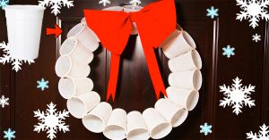 How To Make A Christmas Wreath Using Plastic Cups