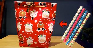 How To Make A Gift Bag Using Wrapping Paper