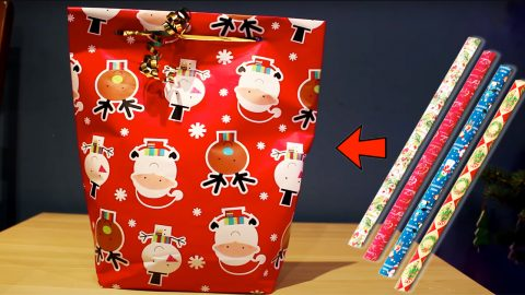 How To Make A Gift Bag Using Wrapping Paper | DIY Joy Projects and Crafts Ideas
