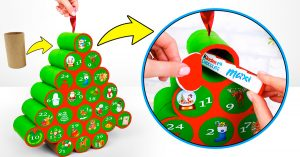 How To Make An Advent Calendar From Paper Rolls