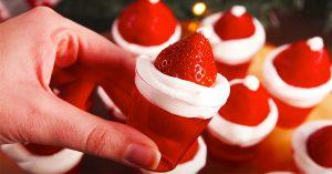 How To Make Santa Hat Jello Shots