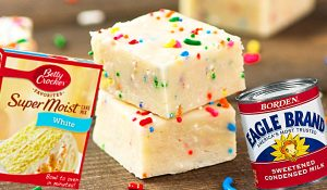 Easy Cake Batter Fudge Recipe