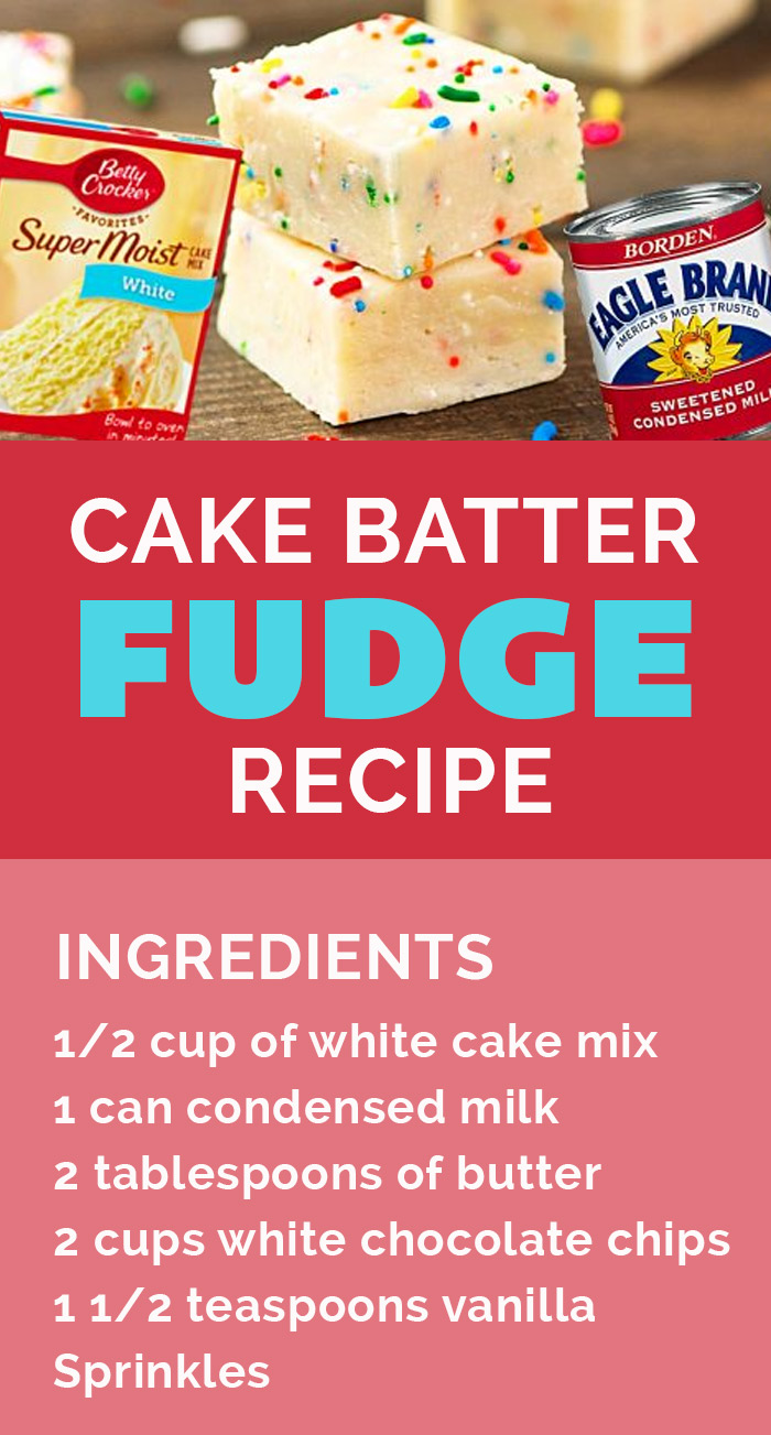 Easy Fudge Recipe - How to Make Cake Mix Fudge - Quick Dessert Ideas to Make for Gifts #diygifts #desserts #easyrecipes #quickrecipes