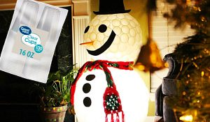 DIY Plastic Cup Lighted Snowman