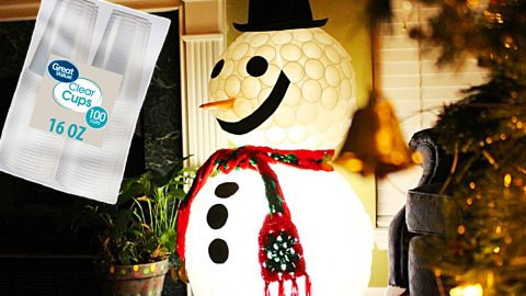 DIY Plastic Cup Lighted Snowman | DIY Joy Projects and Crafts Ideas