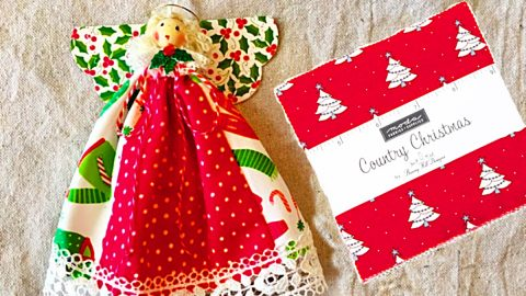 How To Make A Charm Pack Angel Ornament | DIY Joy Projects and Crafts Ideas