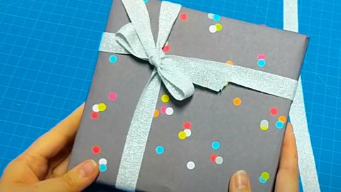 How To Tie Ribbon On A Package   DIY Joy Projects and Crafts Ideas