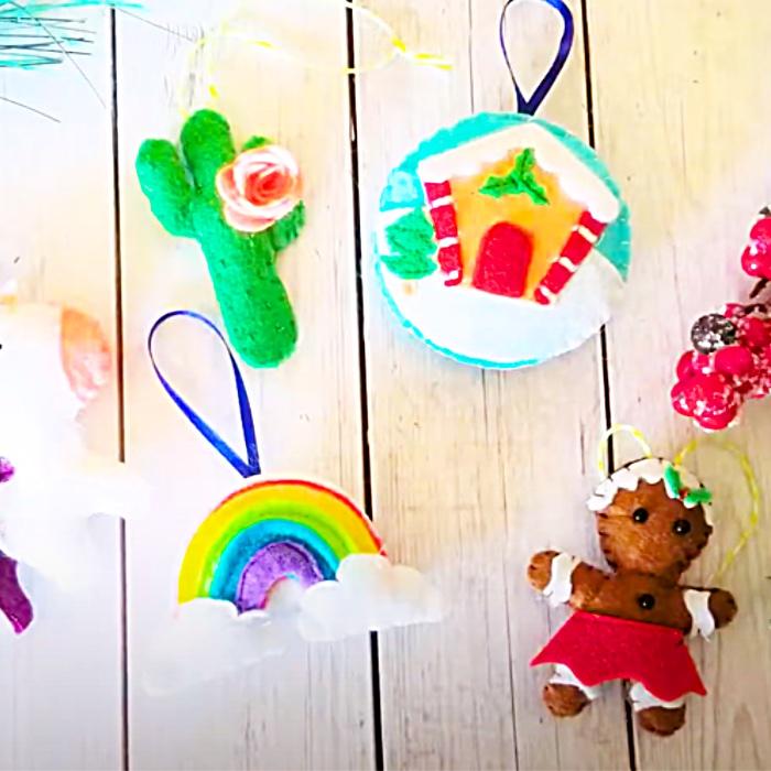 DIY Felt Ornament Ideas - How To Make Christmas Ornaments - DIY Cricut Projects