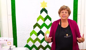 Jenny Doan's Chevron Christmas Tree Quilt With Free Pattern