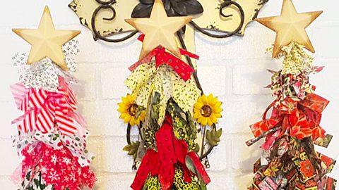 Dollar Tree DIY Rag Christmas Tree | DIY Joy Projects and Crafts Ideas