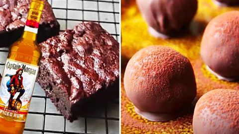 3-Ingredient Brownie Rum Balls Recipe | DIY Joy Projects and Crafts Ideas