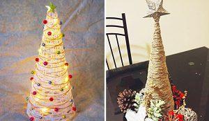 How To Make Farmhouse Twine Christmas Tree