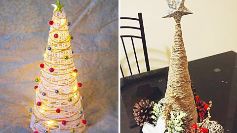 How To Make Farmhouse Twine Christmas Tree | DIY Joy Projects and Crafts Ideas