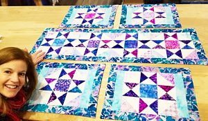 Charm Pack Table Runner And Placemats With Free Pattern