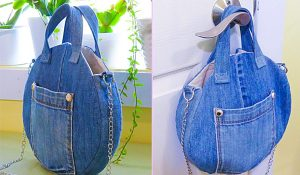 How To Make A Round Recycled Denim Bag
