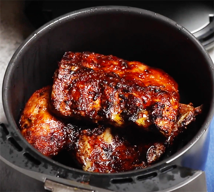 How To Make Ribs in The Air Fryer - Hickory Barbecue Sauce