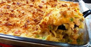 Cheesy Chicken Noodle Soup Casserole Recipe