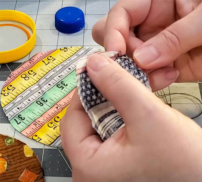 How To Make Bottle Cap Pin Cushion - Bottle Cap Crafts - Upcycled Crafts and Projects