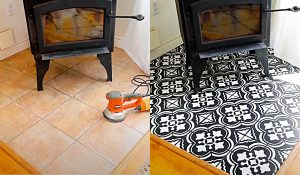 How To Paint Floors Using A Stencil