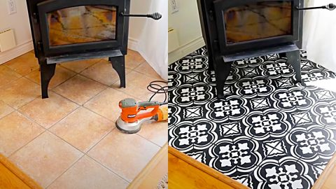 How To Paint Floors Using A Stencil | DIY Joy Projects and Crafts Ideas