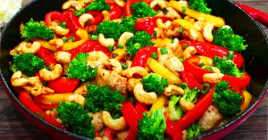 Healthy Cashew Chicken Stir Fry Recipe