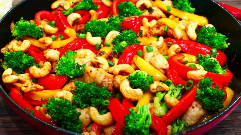 Healthy Cashew Chicken Stir Fry Recipe | DIY Joy Projects and Crafts Ideas