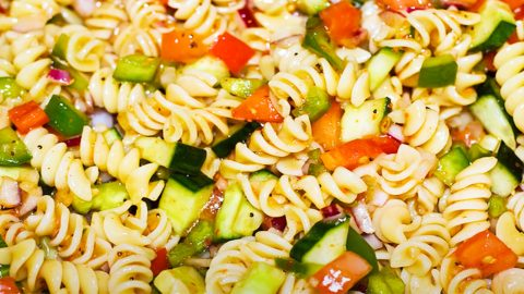 Healthy Italian Dressing Pasta Salad Recipe | DIY Joy Projects and Crafts Ideas