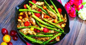 One Pan Pesto Chicken And Asparagus Recipe