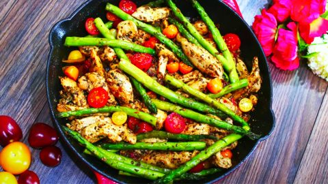 One Pan Pesto Chicken And Asparagus Recipe   DIY Joy Projects and Crafts Ideas