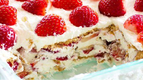 Strawberry Icebox Cake Recipe   DIY Joy Projects and Crafts Ideas