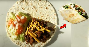 Taco Tortilla Wrap Recipe (TikTok Tortilla Fold Hack)