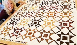 New Year Star Quilt With Free Pattern