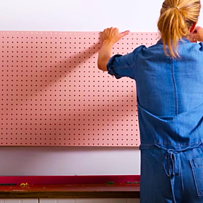 DIY Kitchen Pegboard Storage - Easy DIY Ideas - Storage Unit Ideas
